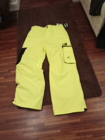 Spodnie narciarskie snowboard rip curl focker yellow fluo L