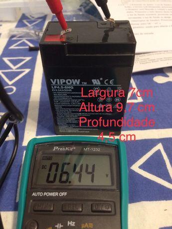 Bateria 6V 4,5 ah Semi-nova
