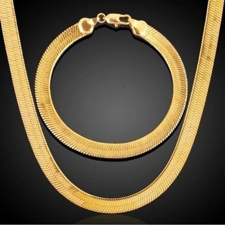 Золотое ожерелье-цепочка, браслет 18к - Коллекция 2019 !