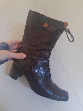 Włoskie buty skórzane