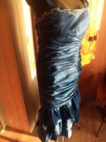 Suknia balowa, wieczorowa Roz.38-40 M-L Tafta