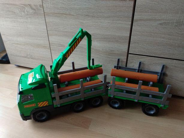 Wader Volvo Ciężarówka Dźwig Przyczepa Drewna