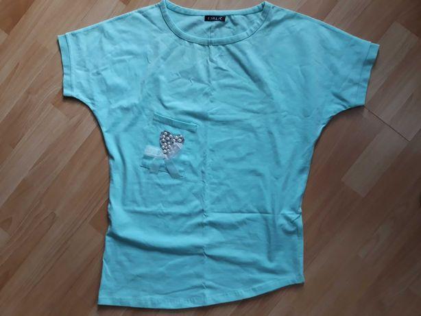 Nowa bluzka bawełna dres one size kolor mięta.