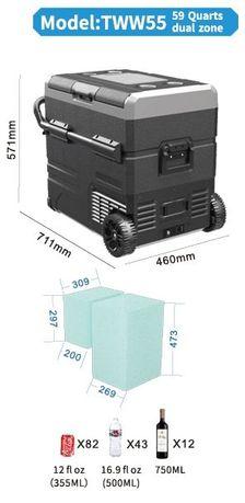 Портативный холодильник-компрессор Alpicool TWW55