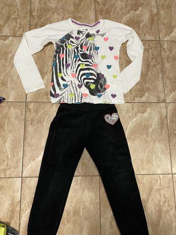 Zestaw bluzka 134 i spodnie dresowe