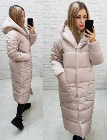 Пальто одеяло зимнее женское новое S M l  42 44 46 48 50 52 54 56 58