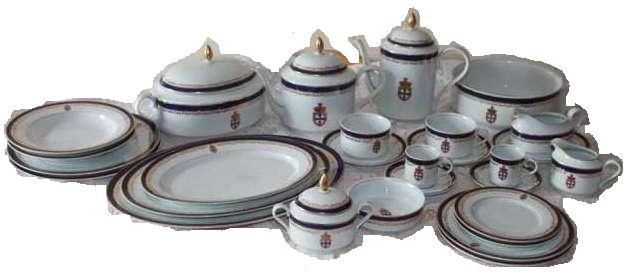 Serviço de jantar, café e chá - porcelana spal -Infante D. Henrique