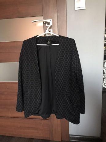 Czarna dresowa marynarka/żakiet H&M. Oversize