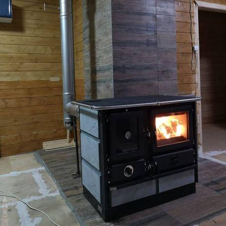 Кухонная печь, печь на дровах, печь с камнем, печь на дачу, MAGNUM