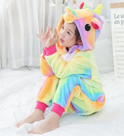 Кигуруми единорожек, панда пижама детская 100см, 110см, 120см, 130см