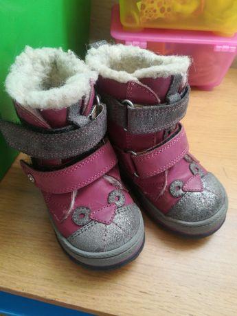 BARTEK kozaki 22 trzewiki buty zimowe dla dziewczynek