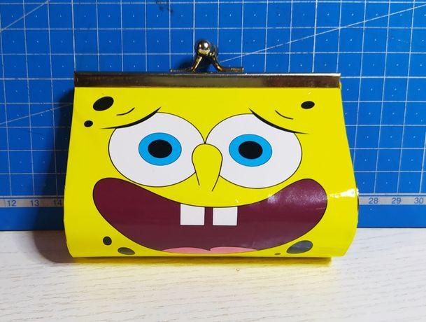 Детский кошелёк с фермуаром Sponge Bob