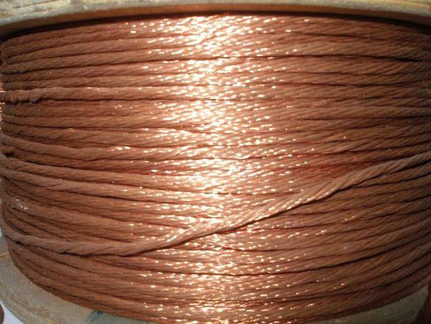 Медный плетеный шнур для заземления оборудования.