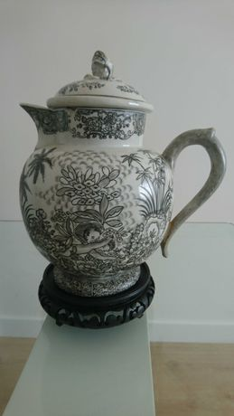 Bule Porcelana Chinesa /Grisaille