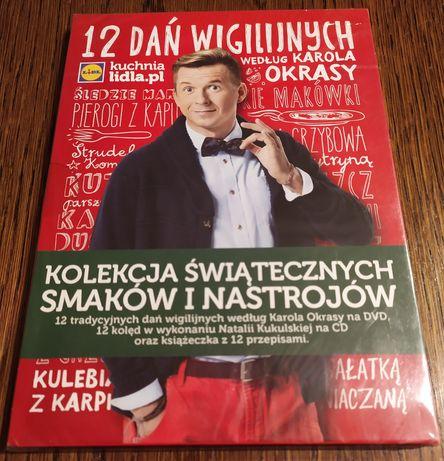 12 Kolęd Natalii Kukulskiej na CD /12 Dań wigilijnych K. Okrasy na DVD