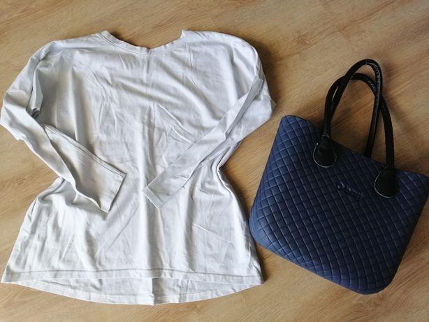 Nowa biała bluzka z dekoltem na plecach roz. M/małe L