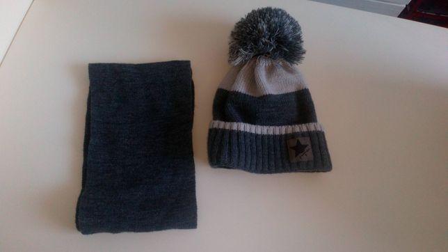 Komplet zimowy chłopięcy - czapka i szal, na 3 lata