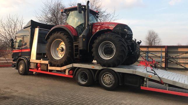 autolaweta transport ciągników maszyn budowlanych rolniczych koparek