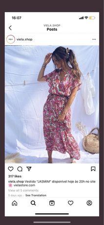 Vestido Flores Midi