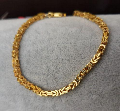 NOWA bransoletka bransoleta królewska królewski 21cm złoto 585 13.5g