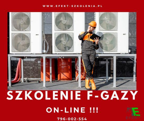 Szkolenie F-GAZY - szkolenie ONLINE! uprawnienia F-gazy