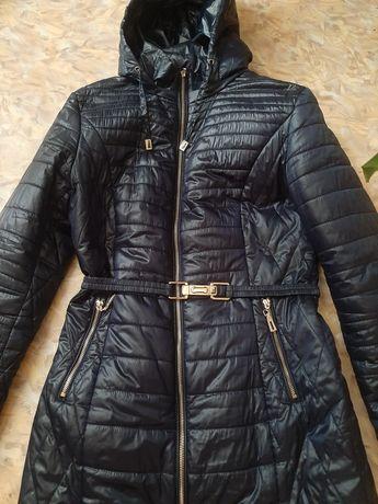 Пальто из плащевки Symonder, пальто темно-синее, куртка темно-синяя