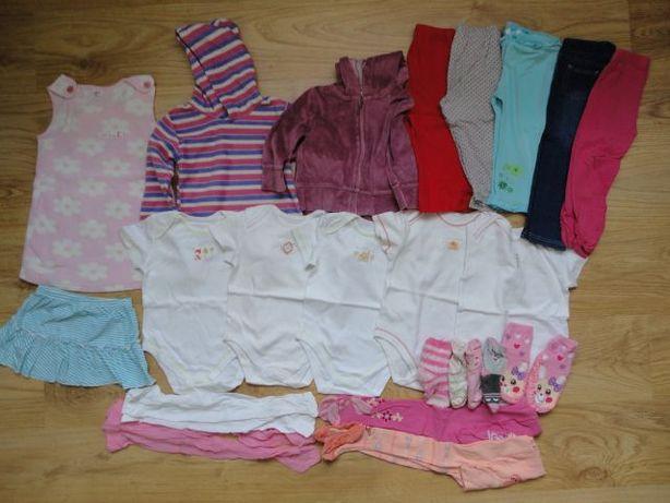 Zestaw ubrań używanych w roz 86-92