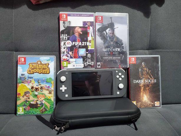 Nintendo Switch Lite + gry + super dodatki /gwarancja/polecam