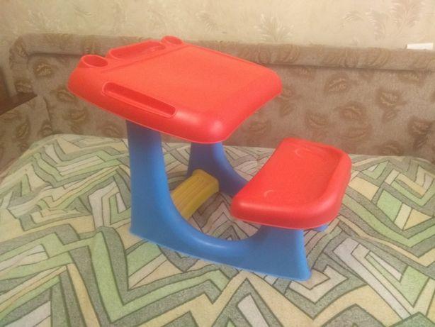 Детская парта стол со стулом пластиковая