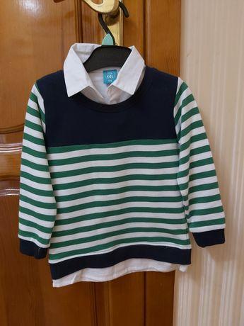 Новый. Нарядный свитер/реглан на мальчика размер 104