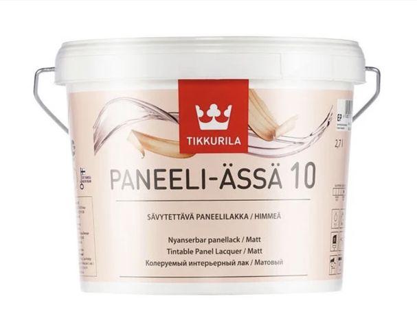Панельный акриловый лак Tikkurila Paneeli Assa 10 (матовый) 2,7 л