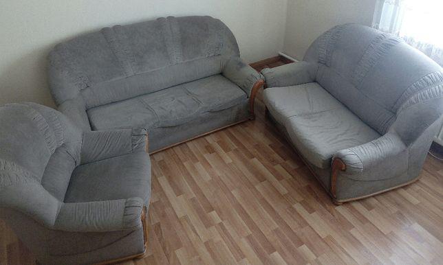 komplet wypoczynkowy tapicerowany rozkładany komfortowy