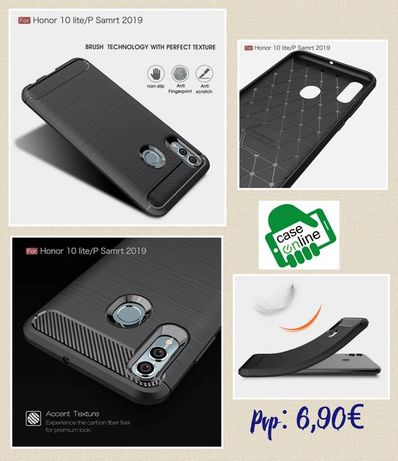 Capa Fibra Carbono P/ Huawei P20 Lite 2019-Nova-24h