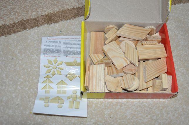 деревянный конструктор, сортер, танграм, головоломка