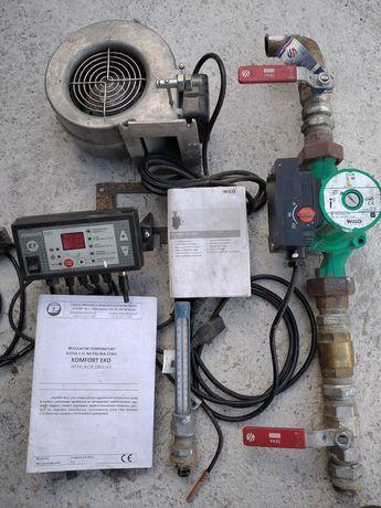 Osprzet do pieca CO Pompa Sterownik Dmuchawa + Gratis