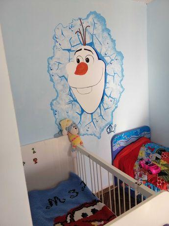 Арт оформление стен в помещениях. Роспись стен.