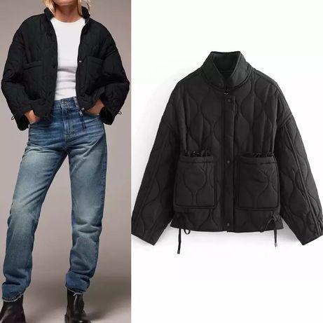 Стеганая куртка ветровка сорочка курточка Зара Zara