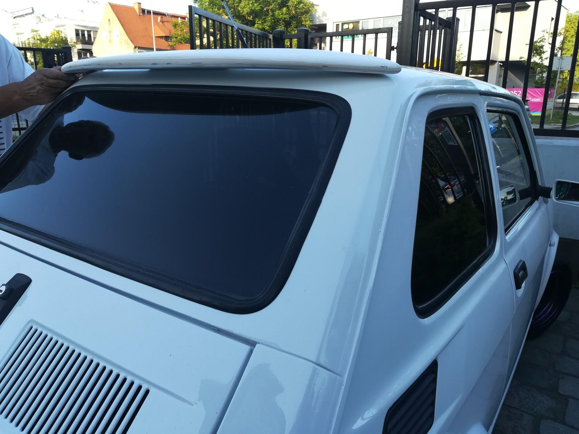 Fiat 126p daszek nad tylną szybę tuning