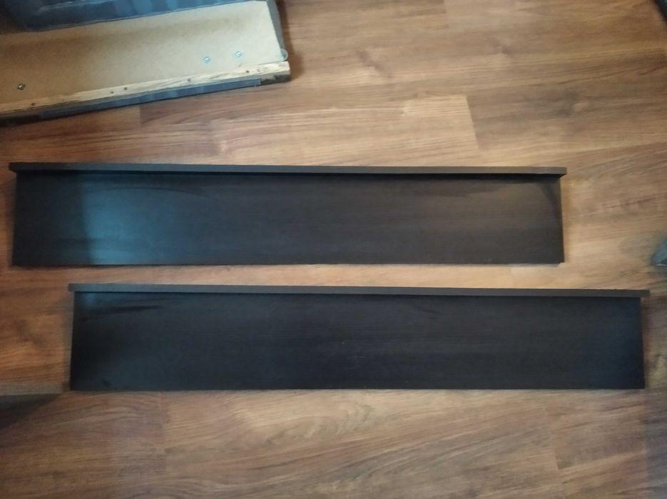 Dwie półki wiszące kolor brązowy Bielawa - image 1