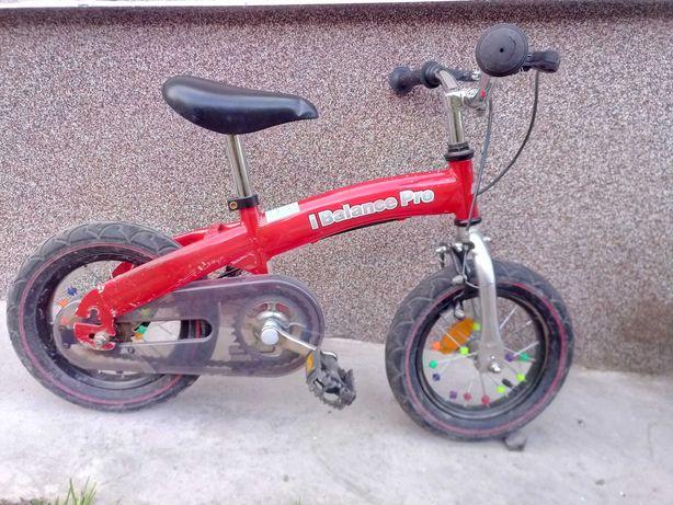 Rowerek biegowy z pedałami 2w1 12 cali i balance pro pompowane koła