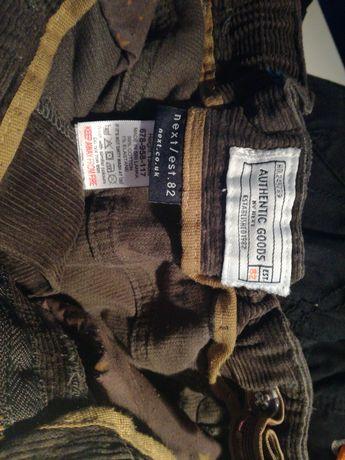 Spodnie sztruks NEXT 134 cm 9 lat