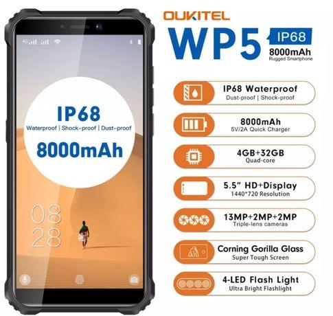 Oukitel WP5 4gb/32gb smartphone resistente à prova de água c/garantia