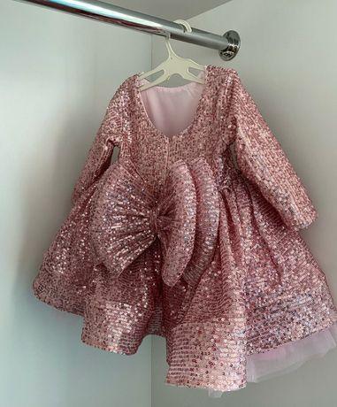 Плаття на рік, платье на годик для принцеси 80,86
