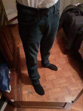 Calças ganga escura