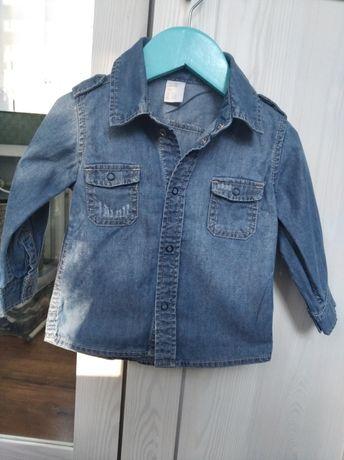 Jeansowa koszula chłopięca h&m