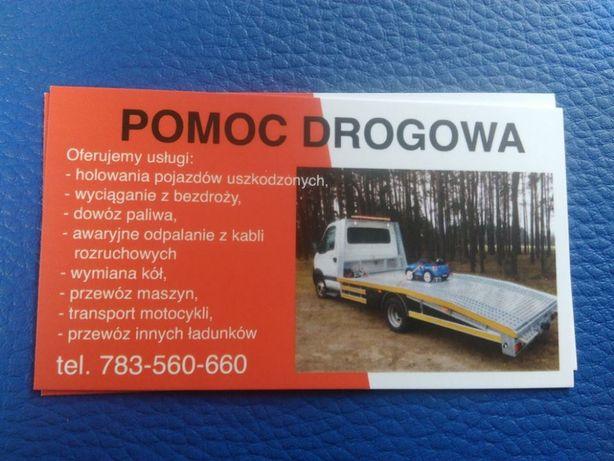 Pomoc drogowa,Laweta, Auto pomoc, Holowanie, transport, minikoparka