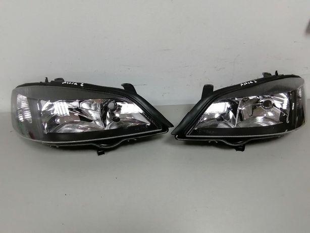 Lampy przód prawa lewa Opel Astra 2 G kpl Eu Czarne