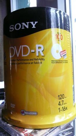 SONY płyty dvd-r 100 sztuk 4,7gb z usa