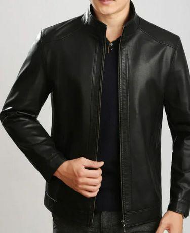 Кожаная куртка прямая