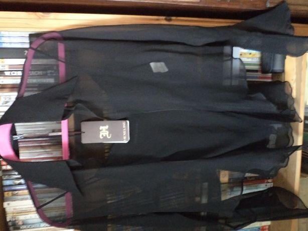 Piękna jedwabna bluzeczka + top, r.40 Hexeline NOWA